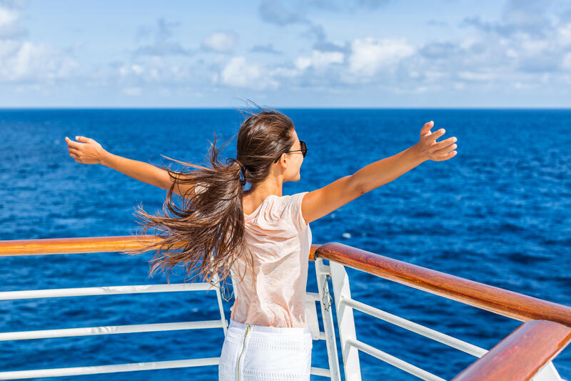 ExPat enjoying her time as she travels through a cruise ship