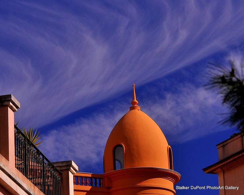 Domed architecture with cobalt sky in Monte Carlo photographed while traveling the world