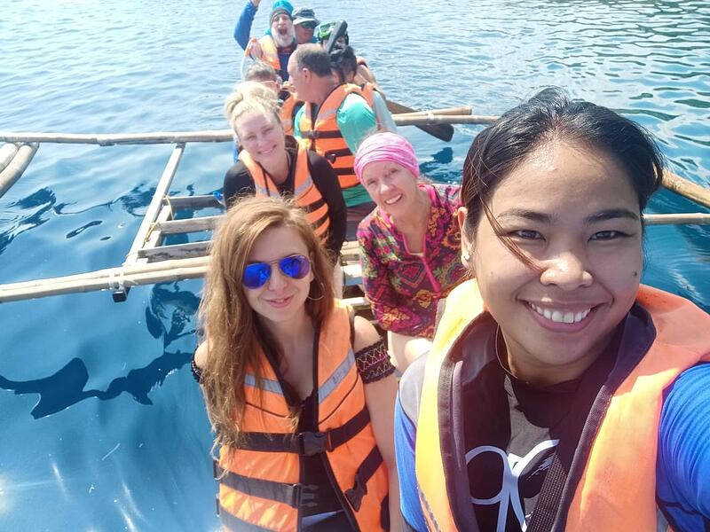 Traditional Canoe Ride to see the Whale Sharks