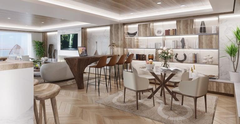 Condo Ship Resident Lounge