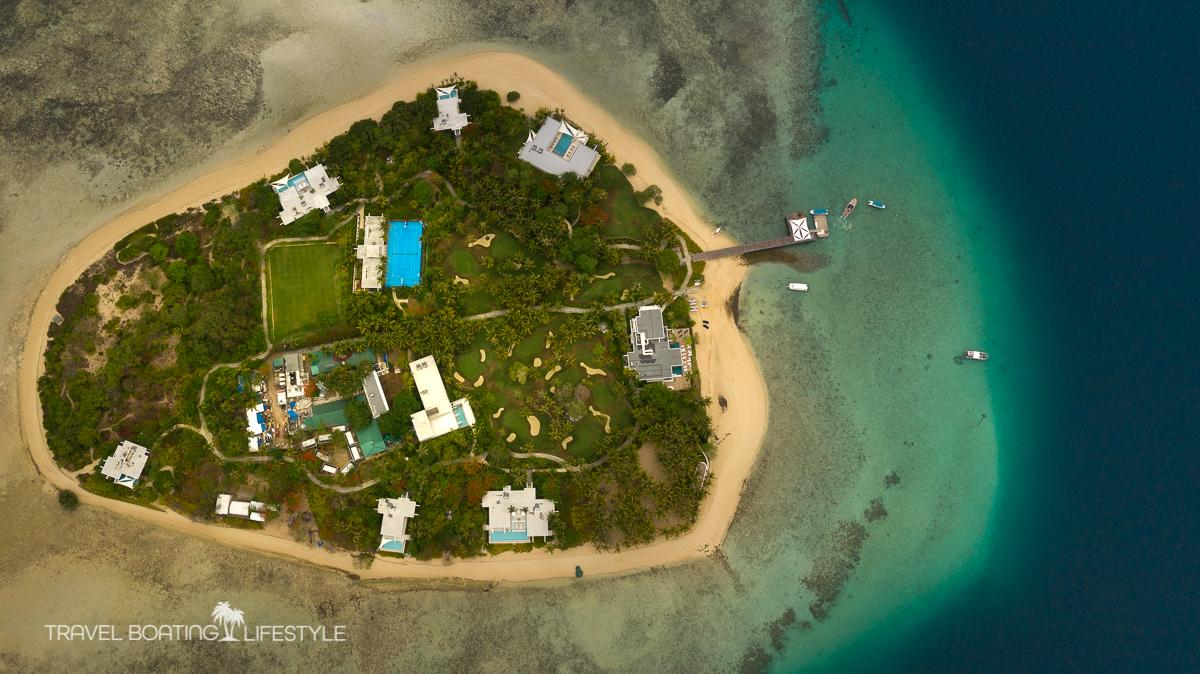 Drone shot of Bawan Island