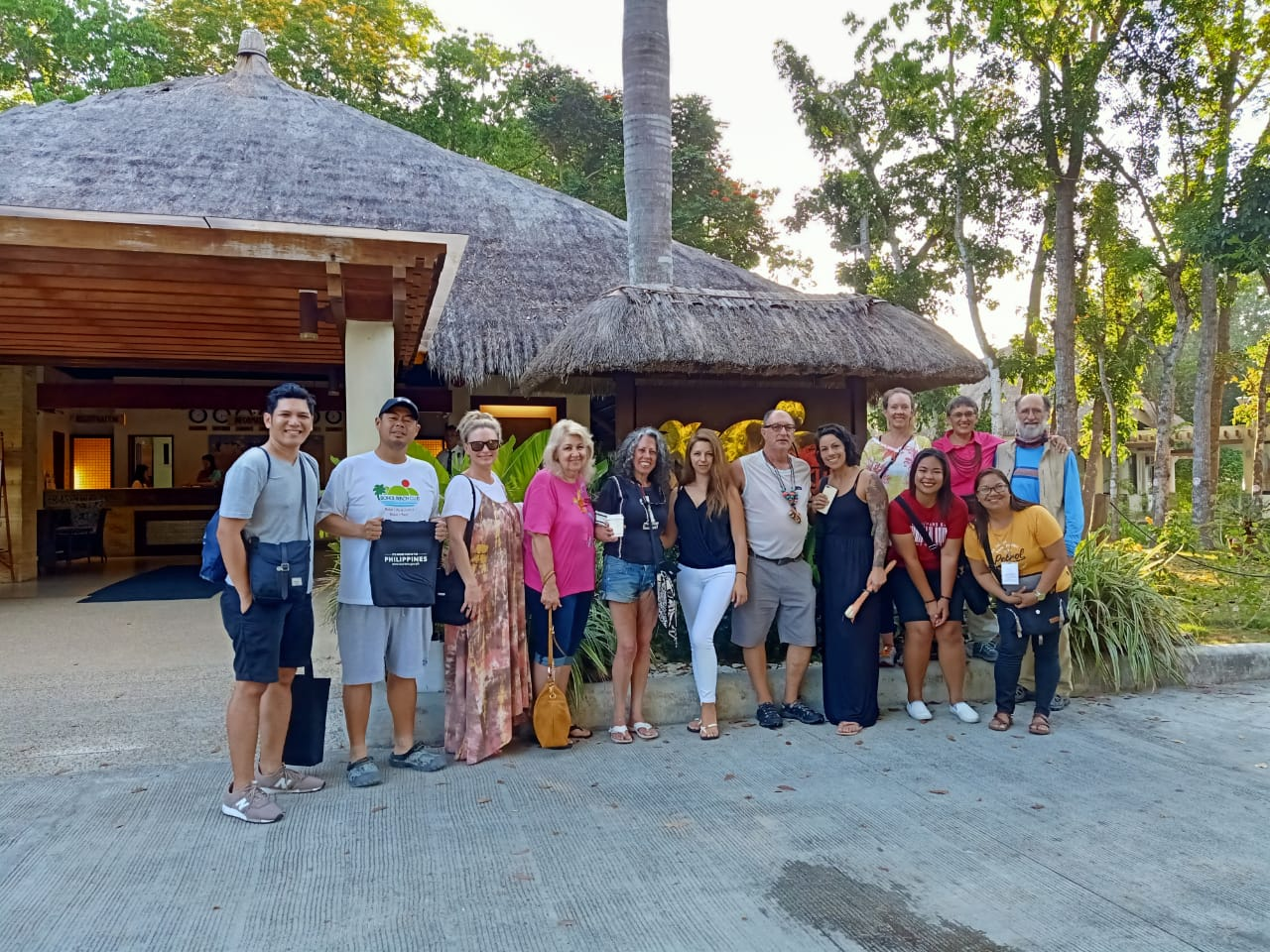 Group photo in front of Bohol Beach Club Resort