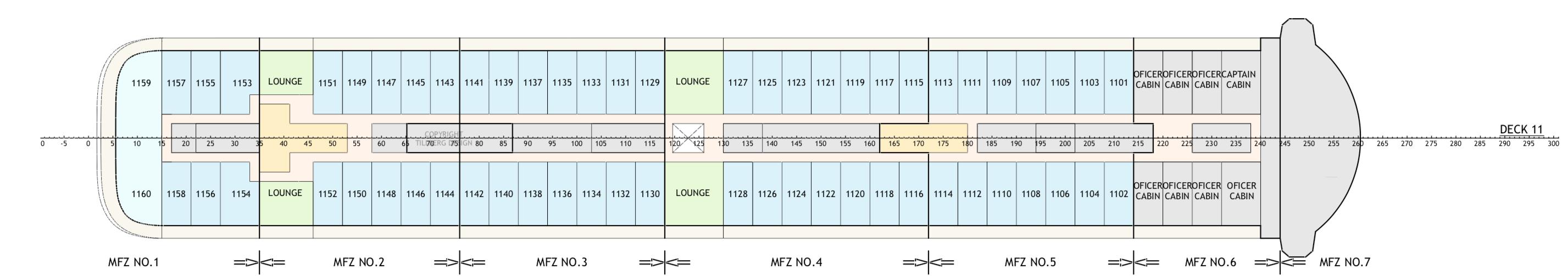 Floor Plan for Deck 11