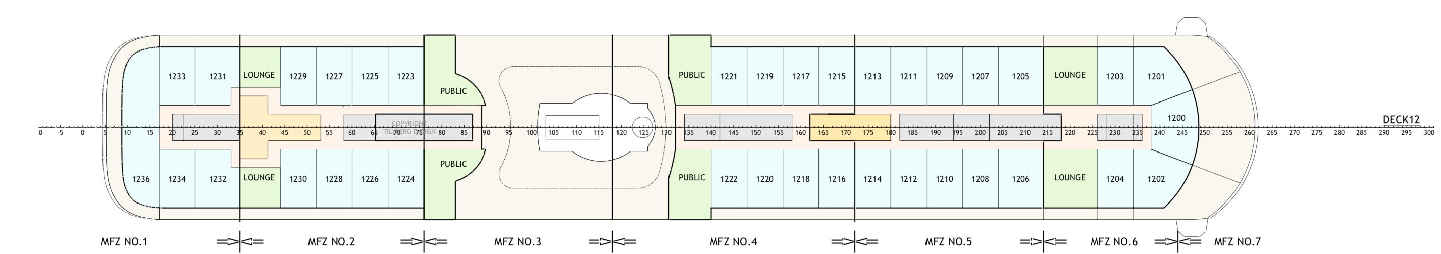 Floor Plan for Deck 12