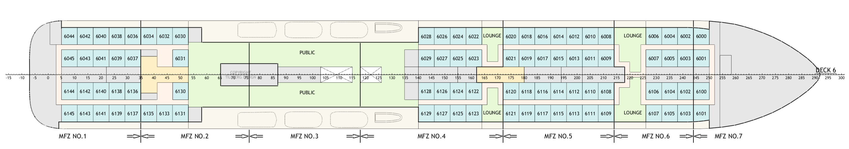 Floor Plan for Deck 6