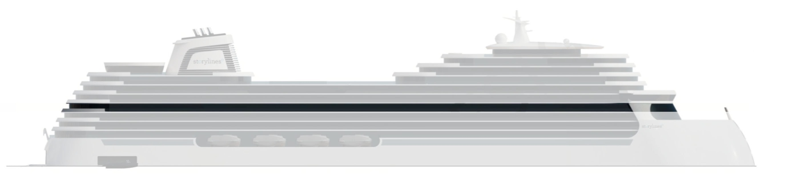 Deck 10 layout of Storylines residential cruise ship MV Narrative